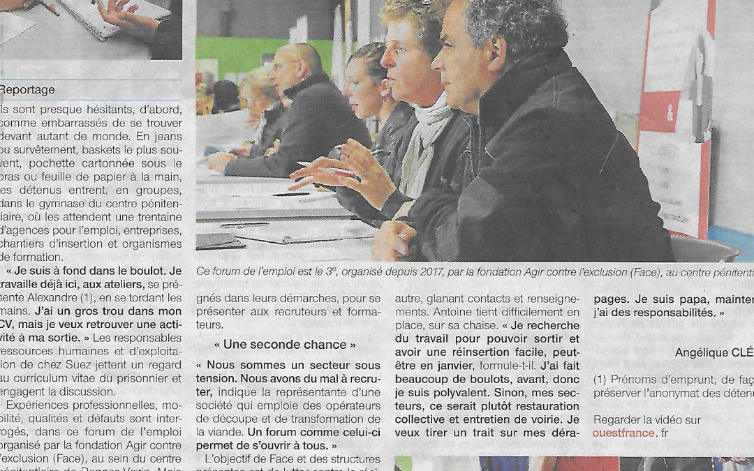 Pole Position RH au forum de l'emploi de la prison de Rennes